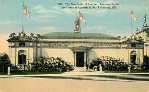Exposition 1915 San Francisco California New Zealand Pavilion Postcard 12072