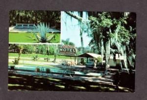 FL Cactus Motel TALLAHASSEE FLORIDA Postcard  --