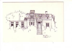 R Hupman Sketch of The Oaks, Building on Gorse Brook Ave, Halifax, Nova Scoti...