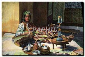 Postcard Old Tobacco Foklore Algeria
