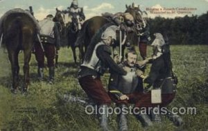 Helping a French Cavalryman Wounded at St. Quentin, Military, WW I Unused lig...