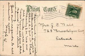 Traverse City MI~Baptist Church~Houses Both Sides~Hazel Has 200 Postals~1908 PC