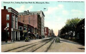 Minnesota  Minneapolis , Hennepin Avenue looking East from Ninth St.