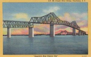 CHARLESTON, South Carolina, 30-40s; Cooper River Bridge