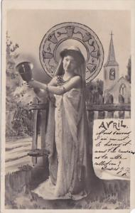 Month Of The Year April Glamorous Lady 1903