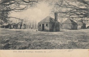 SAVANNAH , Georgia, 1901-07 ; Slave huts at Hermitage