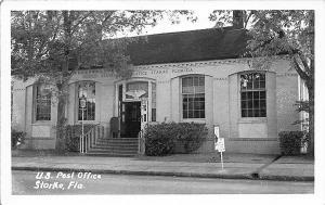 Starke FL U. S. Post Office RPPC Postcard