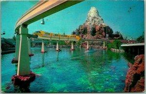 DISNEYLAND California Postcard Monorail / Matterhorn / Submarine - 1965 Cancel