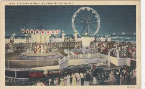 WILDWOOD BY-THE-SEA, New Jersey , 1937 ; Playland at night
