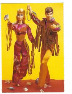 Live Action Barbie & Ken Mattel 1971 Nostalgic Official Barbie Doll Card  4 by 6