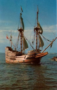 Mayflower II at Plymouth, MA in 1957.