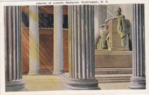 Washington D C Interior Of Lincoln Memorial