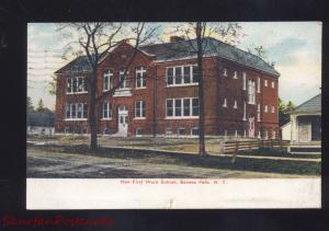 SENECA FALLS NEW YORK FIRST WARD SCHOOL ANTIQUE VINTAGE POSTCARD