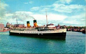 Vtg Cromo Tarjeta Postal Victoria CB Canada C. P. R. Steamship Princesa