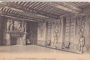 CHATEAU DE CHEVERNY, La Salle des Armures, Loir et Cher, France, 00-10s