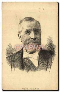 Postcard Former President Loubet