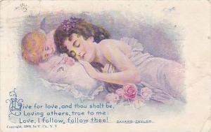 Cupid watching at sleeping maiden, Baynard Taylor, PU
