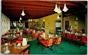 El Dorado Kansas Postcard SAM MERANDA'S RESTAURANT at El Dorado Motel c1960s