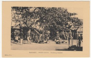 Benin; Dahomey, Porto Novo, A Native Quarter PPC, By ER, Unused, c 1920's