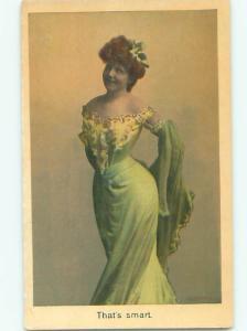 Pre-Linen Risque SEXY GIRL IN GREEN DRESS AB6016