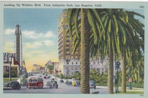 California Los Angeles Looking Up Wilshire Boulevard From Lafayette Park