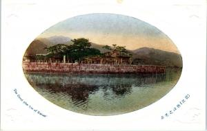 KARASABE?, JAPAN   The GREAT PINE TREE View across WATER  c1910s   Postcard