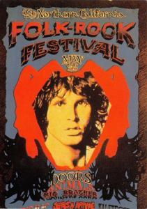 Postcard The North California Folk-Rock Festival Reproduction Advert Card #747
