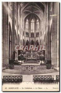 Old Postcard Bordeaux The Cathedral Choir