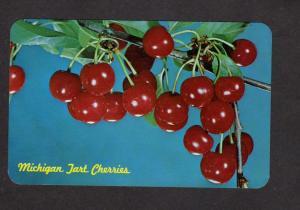 MI Michigan Tart Cherries Cherry Growers Postcard Fruit Carte Postale