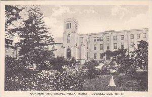 Ohio Lowellville Convent & Chapel Villa Maria Albertype