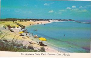 Florida Panama City Scene In St Andrews State Park Showing Beach