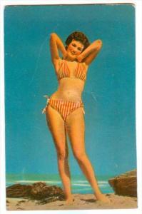 Squeeky,  PIN-UP, Red & White Striped Bikini, Beach, 40-60s