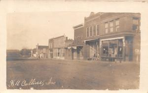 Collins Iowa~East Side of Main Street~Dog & Pony Show in Town Today~1908 RPPC