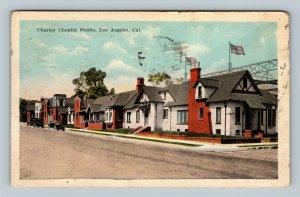 Los Angeles CA, Actor Charley Chaplin Studio, Vintage California c1923 Postcard
