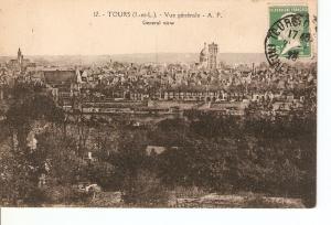Postal 026822 : Tours, Vue generale - A. P.