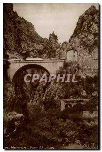 Postcard Menton Old Bridge St Louis