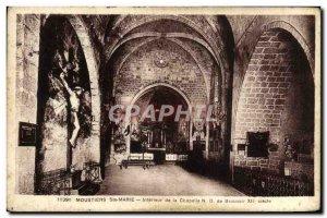 Postcard Old Moustiers Ste Marie Interior De La Chapelle ND de Beauvoir