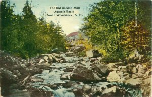 The Old Gordon Mill, Agassiz Basin North Woodstock, NH Pre-Linen Postcard