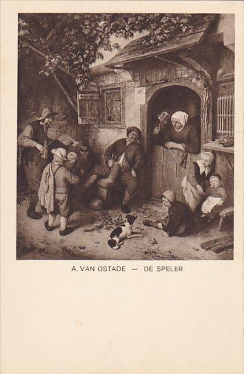 De Speler by A Van Ostade Museum Den Haag