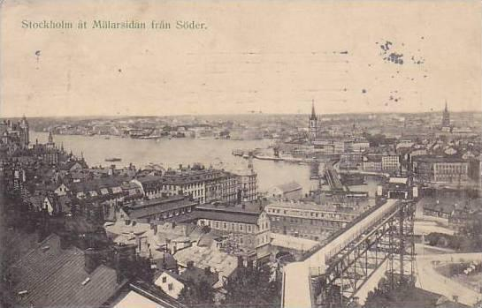 Stockholm at Malarsidan fran Soder , Sweden , PU-1908