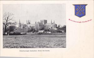 ENGLAND, 1900-1910's; Peterborough Cathedral, From The South, Coat Of Arms