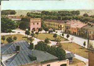 Poland, Opoczno, Fragment miasta, 1967 used Postcard