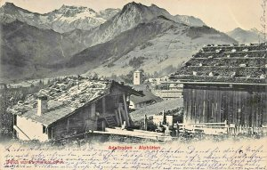 ADELBODEN ALPHUTTEN SWITZERLAND~1904 PHOTO POSTCARD