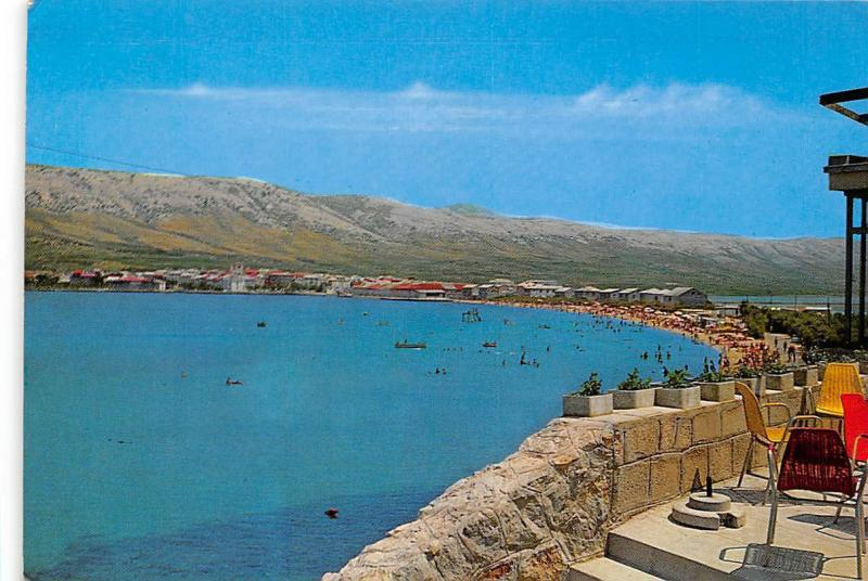 Croatia Pag Strand Beach General view Plage Panorama