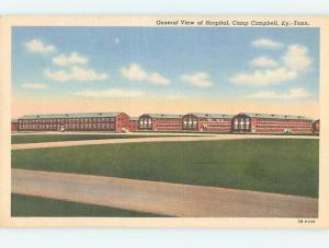 Unused Linen HOSPITAL SCENE Camp Campbell - Clarksville Tennessee TN J9356