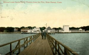 CT - New Haven - Wilcox's & Savin Rock Theatre from the Pier