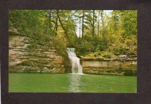 WV Waterfall Water Falls Summersville Lake West Virginia Postcards