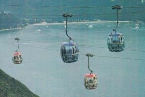 Bubble Cars above Deep Water Bay Hong Kong Ocean Park Postcard