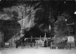 France Lourdes La Grotte Cave Our Apparition Statue 1952