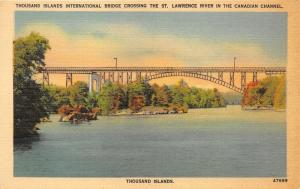 Thousand Islands New York~International Bridge Crossing St Lawrence River~1940s